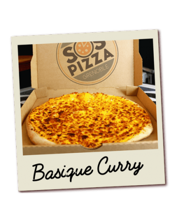 SOS pizza Grenoble Basique Curry