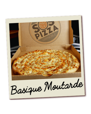 SOS pizza Grenoble Basique Moutarde