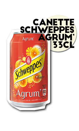 SOS pizza Grenoble Canette schweppes agrum