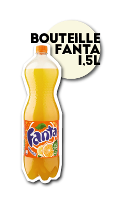 SOS pizza Grenoble bouteille fanta