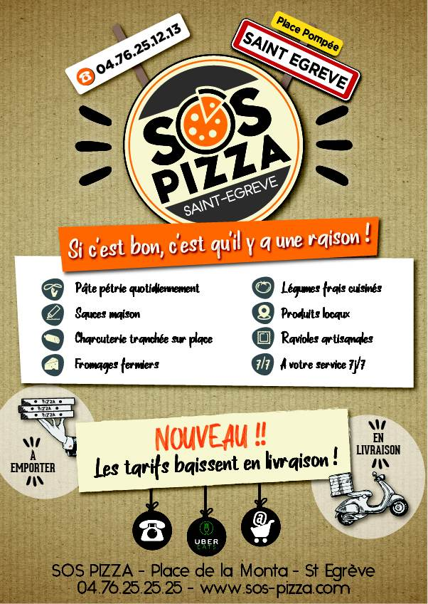 Nouvelle communication SOS Pizza
